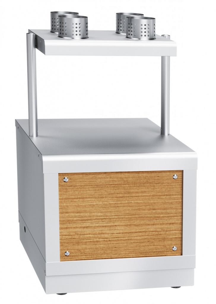 Прилавок для столовых приборов и подносов ЧувашТоргТехника ПСП-70Х