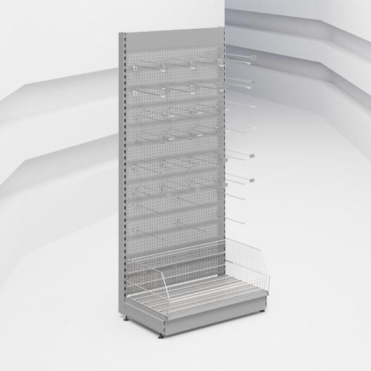 Стеллаж пристенный перфорированный Stahler серии Praktish 2300 x 1000 x 470 на сайте Белторгхолод