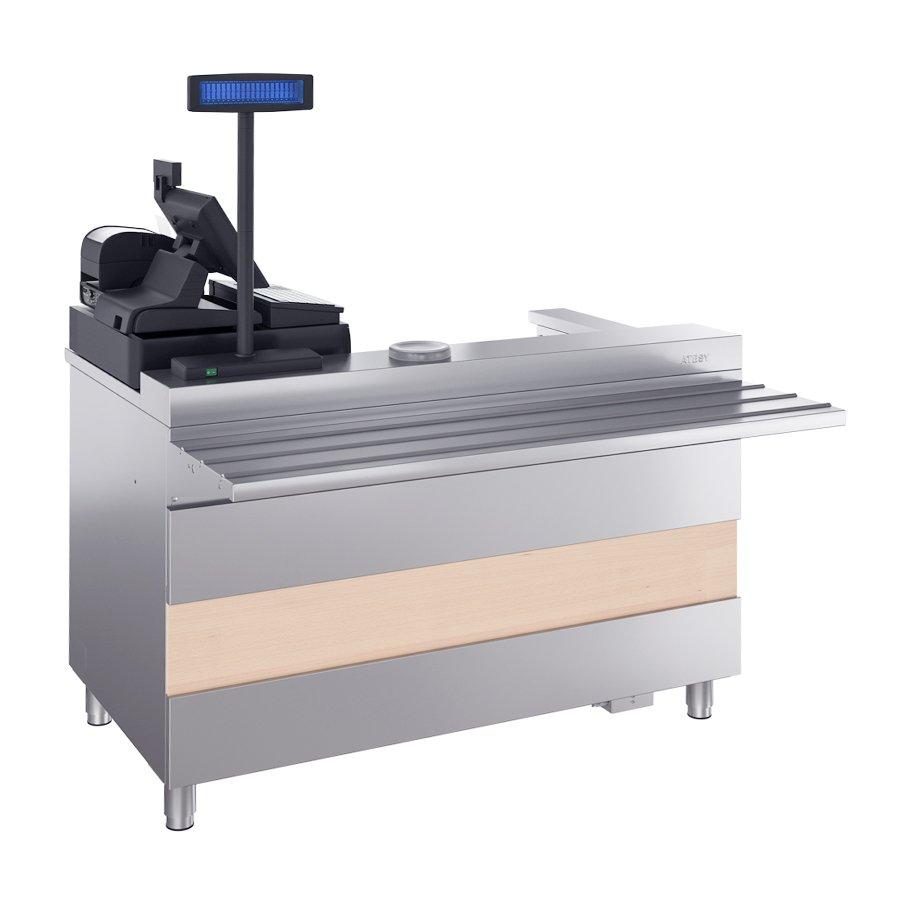 Кассовый стол Атеси Ривьера с подлокотником КСП-1200-02