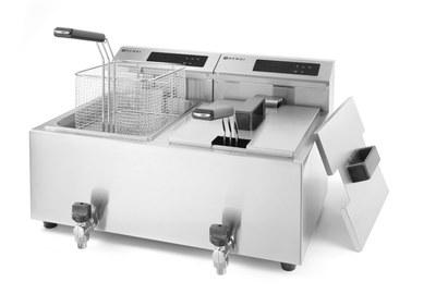 Фритюрница Hendi MasterPro со сливным краном - 2x 8 L (арт. 207376)