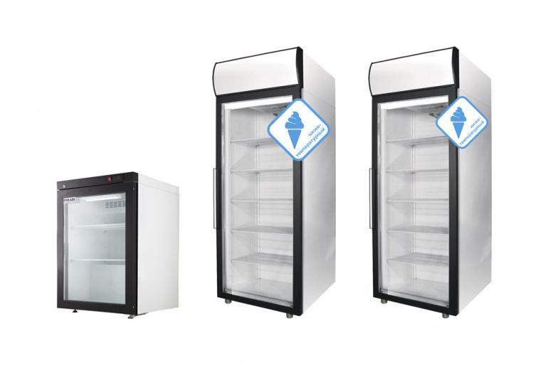 Новинка! Морозильные шкафы POLAIR со стеклянными дверьми