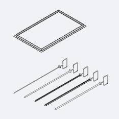 Аксессуары пароконвектомат Rational Вертел для гриля и тандури 3 вертела ¦ 8 мм, длина 530 мм 60.72.419