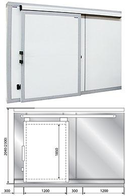 Дверные блоки Polair Дверной блок с откатной дверью POLAIR 224 см-300-204-100