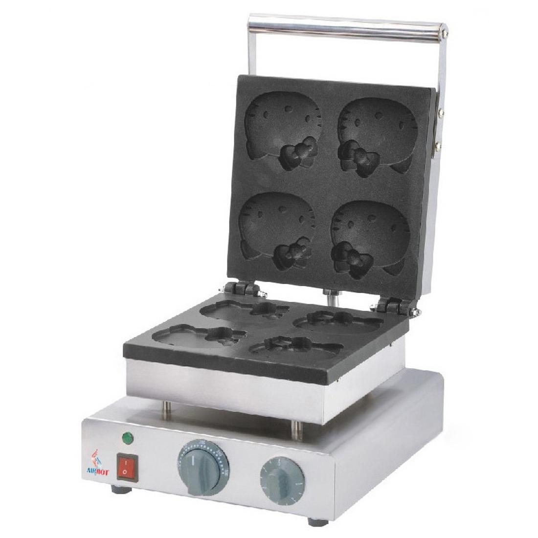 Вафельница для вафель в форме кошечки Airhot WBHK-4 HELLO KITTY