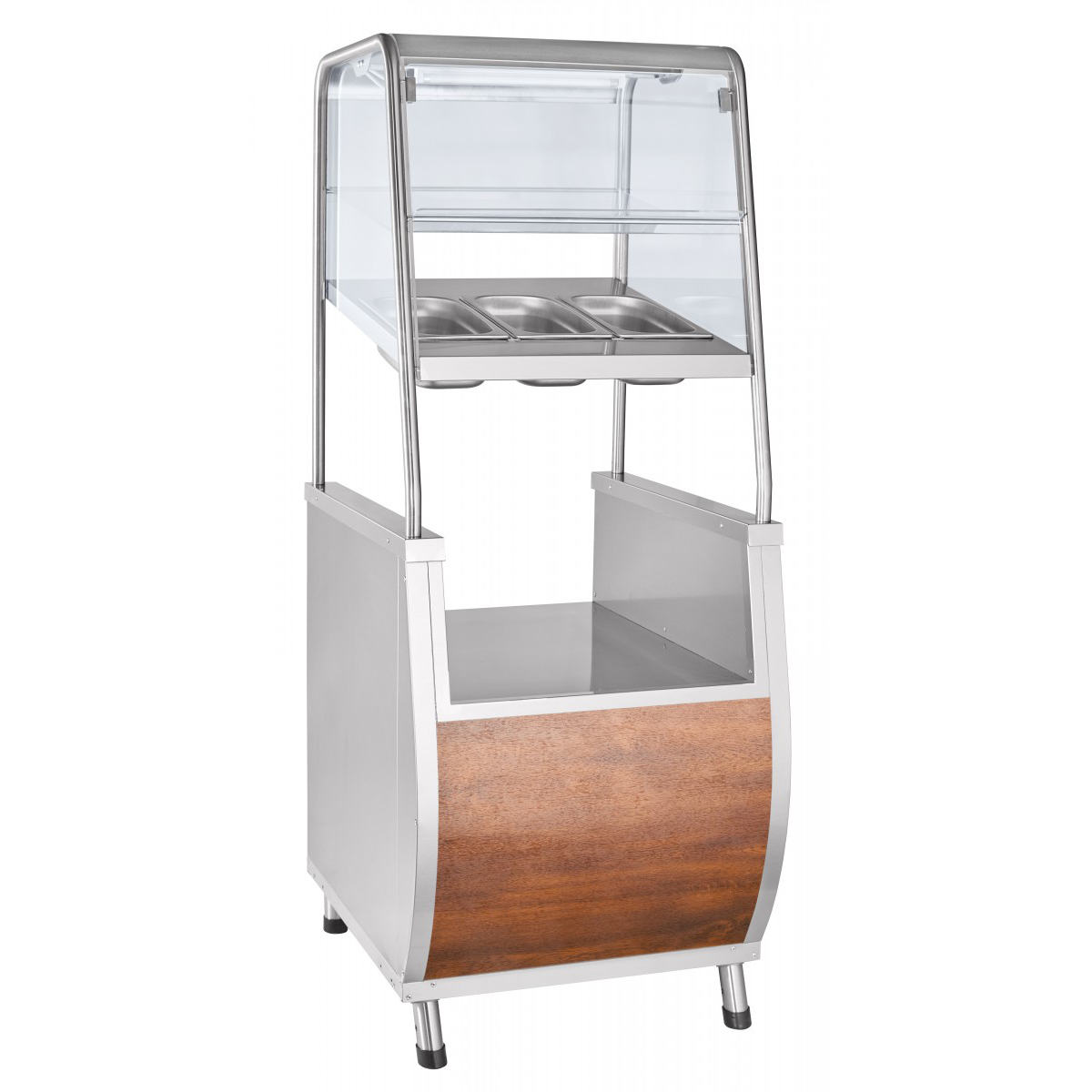 Прилавок для столовых приборов ЧувашТоргТехника ПСПХ-70Т с хлебницей