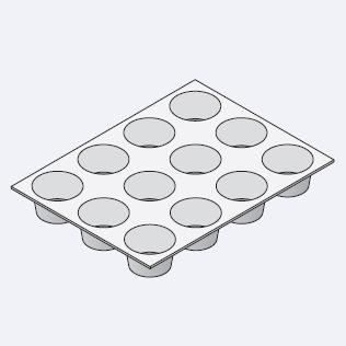Аксессуары пароконвектомат Rational Формы для маффинов и тимбале 300 х 400 мм (для 1/1 GN) 6017.1002