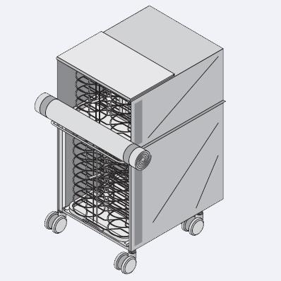 Система RATIONAL Finishing® Rational Транспортировочная тележка с термоизоляционным чехлом для Combi-Duo тип 62/102, 60.70.918
