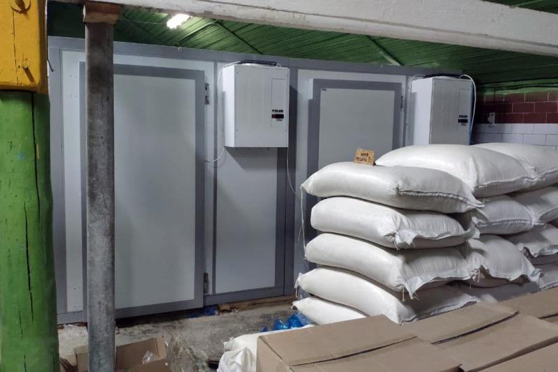 Монтаж холодильных камер для войсковой части в Молодечно