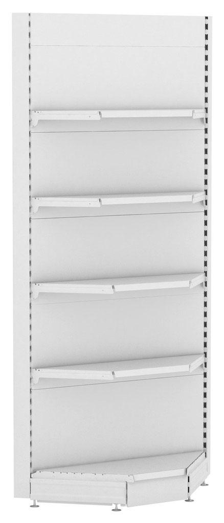Стеллаж для зоомагазина Stahler внутреннего угла Eco Line G=470 2250 x 1022 x 470 на сайте Белторгхолод