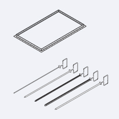 Аксессуары пароконвектомат Rational Вертел для гриля и тандури 3 плоских вертела для рыбы 10 мм, длина 530 мм 60.72.420