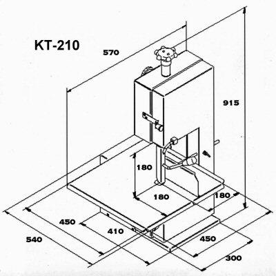 Ленточная пила из нержавеющей стали KT KT-210