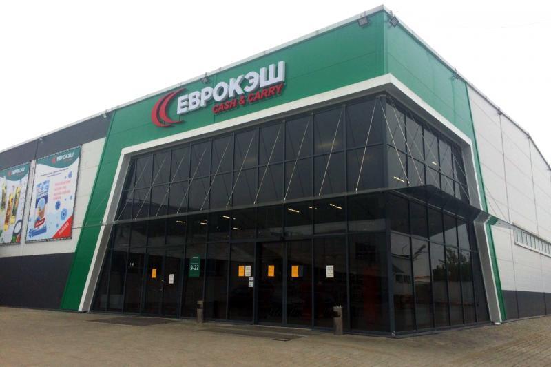 """Монтаж торгового и холодильного оборудования для гипермаркета """"Еврокэш"""" в Гомеле"""