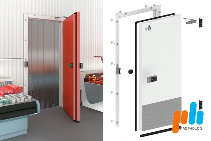 Новинка! Распашные холодильные противопожарные двери ПрофХолод