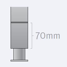 Тип 201 и 202 Rational Устройство для подъёма аппарата над полом тип 201/202         60.70.407