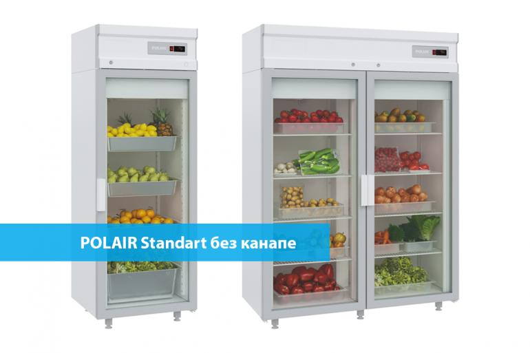 Новинка! Холодильные шкафы POLAIR со стеклянными дверьми без канапе