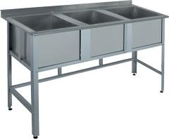 Моечные ванны Rada с тремя емкостями, с бортом ВМ3-15/6Б
