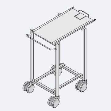 Система RATIONAL Finishing® Rational Транспортировочная тележка для рамы с направляющими тип 62/102 стандарт, высота 989 мм, 60.60.678