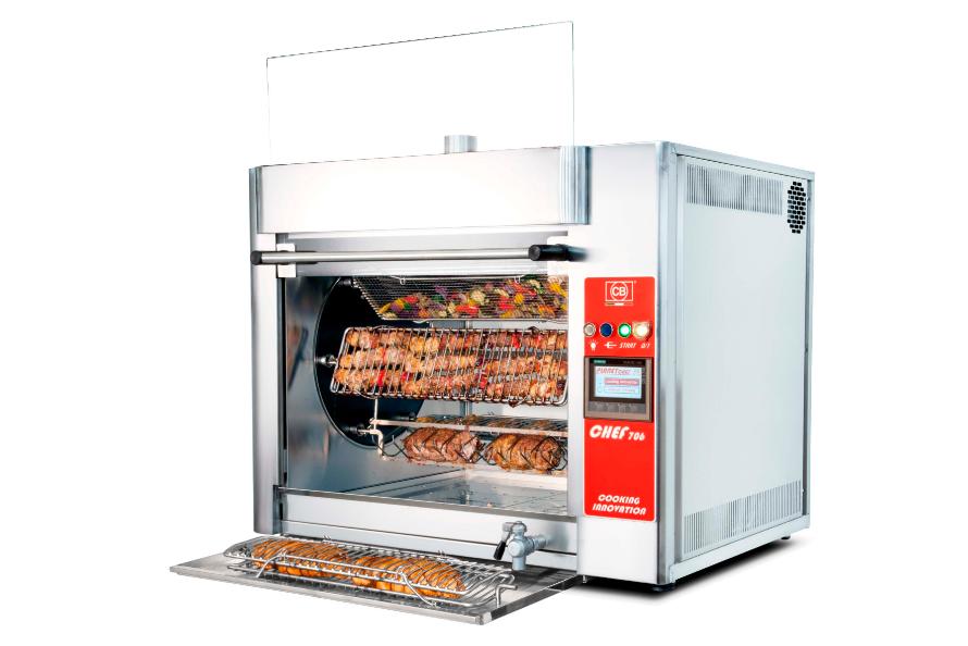 Приготовление овощей и мяса в гриле CB Chef 706