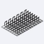 Аксессуары пароконвектомат Rational Решётка Spare Rib для приготовления свиных рёбрышек /1 GN (325 x 530 мм) 6035.1018