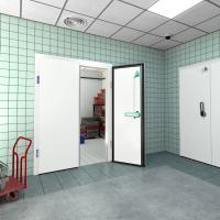 Распашная двустворчатая холодильная дверь (РДД) ПрофХолод