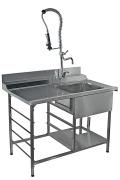 Стол производственный для грязной посуды СГПЛ-12/7,2ДН и СГПП-12/7,2ДН