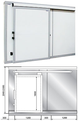 Дверные блоки Polair Дверной блок с откатной дверью POLAIR 220 см-360-204- 80