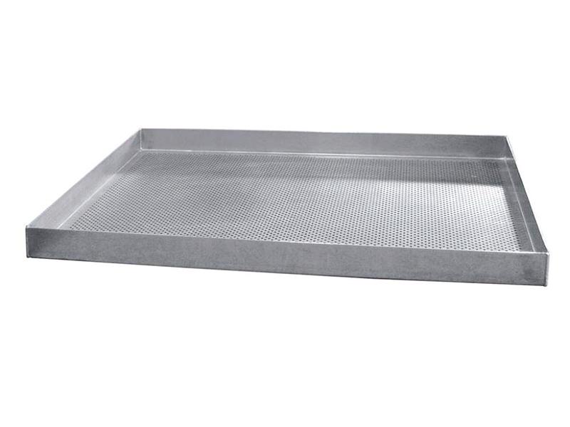 Противень WLBake алюминиевый 460х330х15, 4 борта, перфорированный