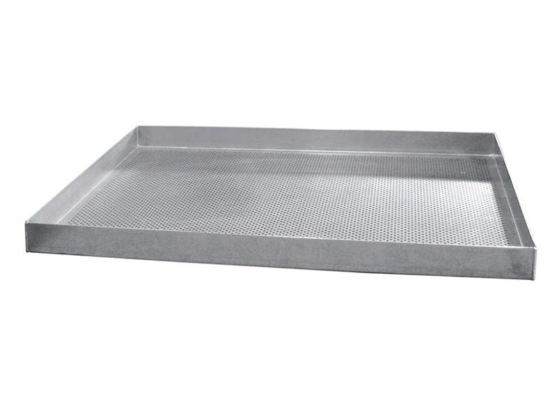 Противень WLBake алюминиевый, 600х400х15, 4 борта, перфорированный, силикон