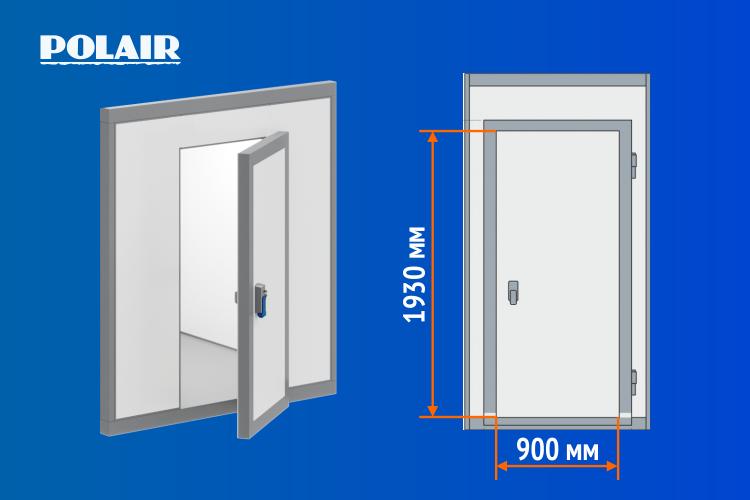 Новый распашной дверной блок с увеличенной высотой светового проёма POLAIR