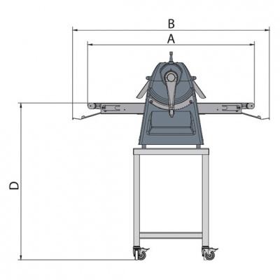 Тестораскаточная машина Flamic SF450DX700