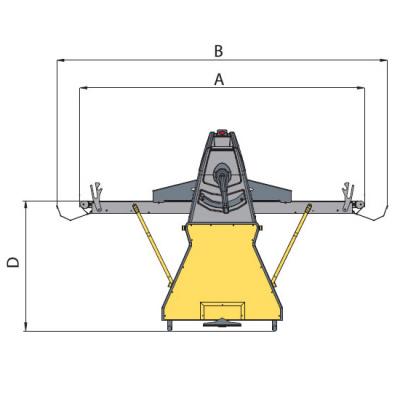 Тестораскаточная машина Flamic SF500VDX1200