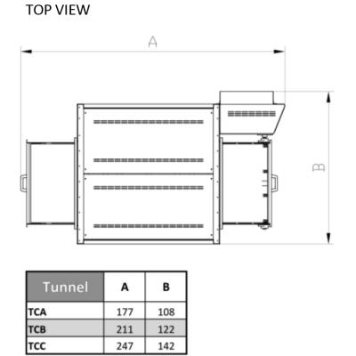 Печь для пиццы Italforni TUNNEL CLASSIC TCA