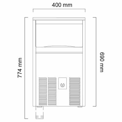 Льдогенератор Icematic CS 38 ZP W