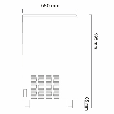 Льдогенератор Icematic CS 90 ZP W