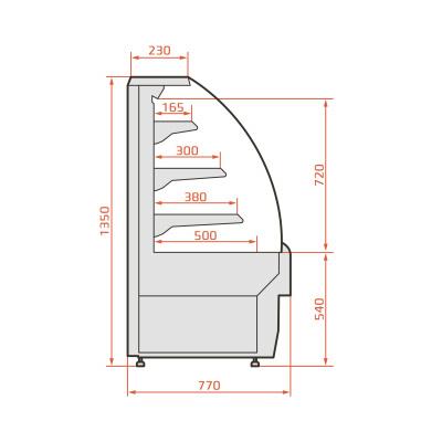 Витрина холодильная ES SYSTEM K RCC Carina 02 Self 0,6